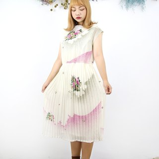 Back to Green:: 雲霧花朵 vintage dress (DS-11)