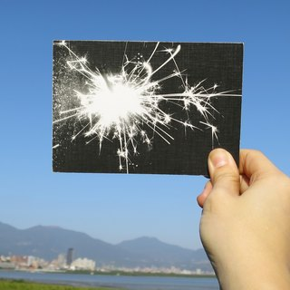 Quietly draw cool card / multifunctional storage postcard / spark