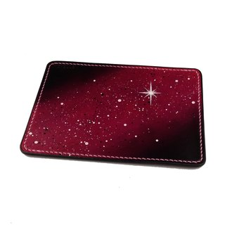 4MM thick vegetable tanned leather star writing pad / leather pad / mouse pad / first layer cowhide / hand sewing / red black