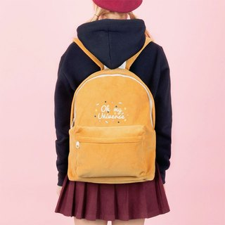 Dear My Universe Oh my little cosmic corduroy backpack - mustard yellow
