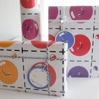 Buttons wrapping paper set.  Colour Wrapping Paper. White background.