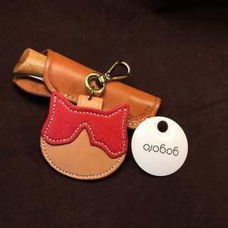 Two-color cat gogoro key leather set