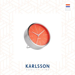 荷蘭Karlsson, Alarm clock Normann brushed steel orange