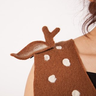 Ke people original design handmade wool felt creative deer side clip hairpin multi-purpose decorative folder Sen aesthetic hair ornaments