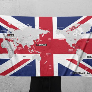 Make World Map Manufacture of Sports Bath Towels (UK)