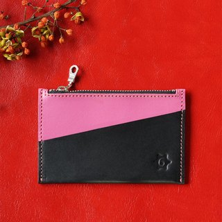 Color Multifunction Card Purse (peach red)