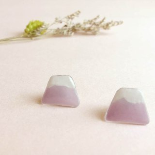 Romantic Hill - hand-painted earrings (can change the clip)