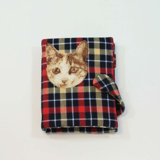 Embroidery tin loose-leaf notebook 05- cat