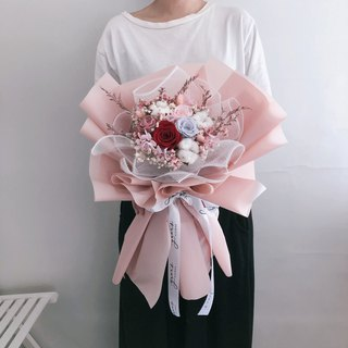Valentine's Day New Korean Style Bouquet Colorful Eternal Roses Eternal Flower Large Bouquet Dry Bouquet