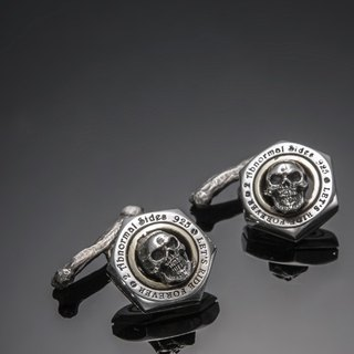 Let's Ride Collection Nut Cufflink with skull and bone | 螺帽骷髏袖釦(骨頭版)