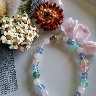 Valentine's Day [Rainbow Star] Hand-made X natural stone bracelet
