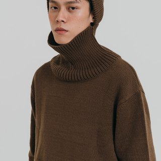 hao Brown Turtle Neck Sweater Brown turtleneck