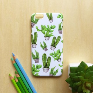Cactus White. Matte Case( iPhone, HTC, Samsung, Sony, LG, OPPO)