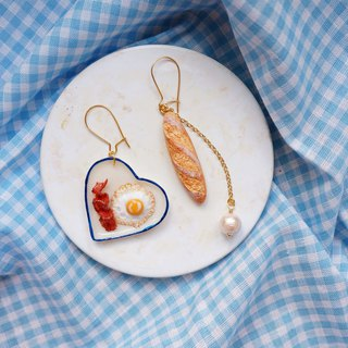 Goody Bag - Bread 3 Options 2 Earrings / Ear Clips