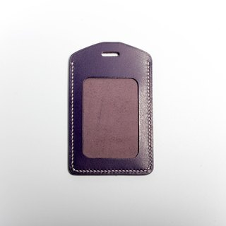 Egawa [Hands] documents folder, travel card sets (purple straight) pure hand-stitched leather