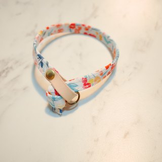 Cat collar spring friendship small floral vegetal skin with bell can add purchase tag