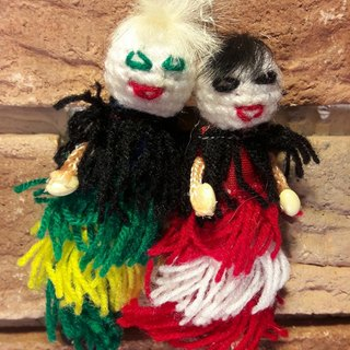 Ukuku couple 1 - red and green