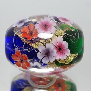 Tempo ball of anemone with glass jade gold leaf
