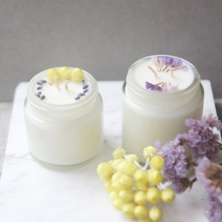 Goody Bag-Fu bag 1+1 candle travel meaning hand-dried flower soy candle total 140g