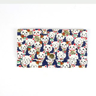 Red envelopes bankbook cash pouch - Lucky cat (blue)