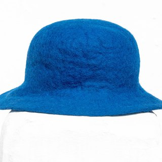 Christmas gift wool felt hat / handmade wool felt hat / wool hat / design cap / dome hat - blue time