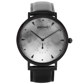 【PICONO】A week collection black leather strap watch / AW-7607