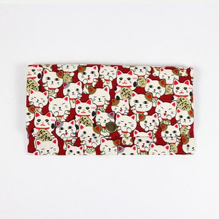 Red envelopes bankbook cash pouch - Lucky cat (red)