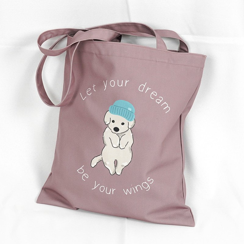 Canvas Tote Bag Minimal Style (Puppy Pink)