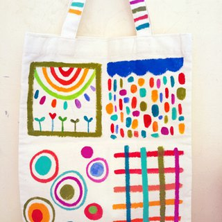 [Pure hand-painted] Tote bag | Flat type | Canvas | Pop style