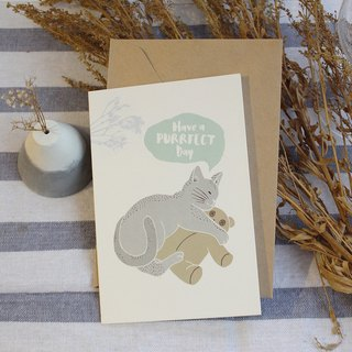 Have a purrfect day Birthday Card / Cat birthday card