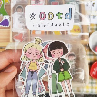 Ootd wear stickers package
