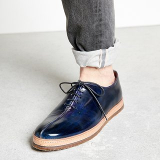H THREE / Oxford shoes / men's shoes / flat / blue / dark blue