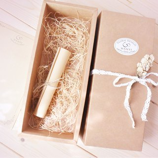 WANYI cowhide packaging flower gift box plus purchase / gift / lace / bouquet / gift / box / carton