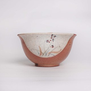 Chi wild flower painted bowl