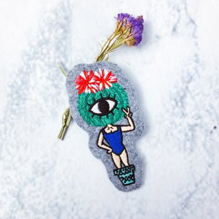 Belongs To J. Embroidery pins - Miss Summer Out Again