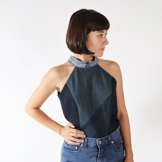 Upcycling denim women top