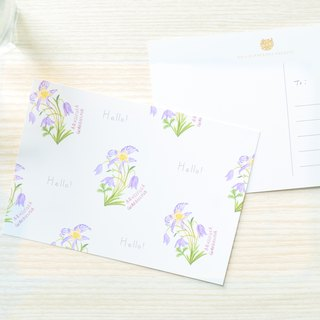 Garden Collection-Aquilegia postcard / buy 3 get 1