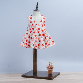Deep V Sling Dress - Bamboo Plum Blossom Child Newborn Children's Wear