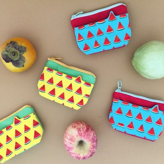 *Sliced ​​watermelon / styling pocket coin purse*