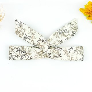 Calf Village Calf Village handmade hair accessories aluminum hair band multi-variety fresh wild [porcelain white foliage] [A-105]