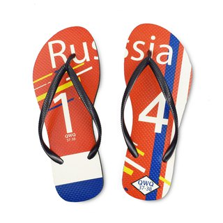 QWQ creative design flip-flops - Russia - female [limited]