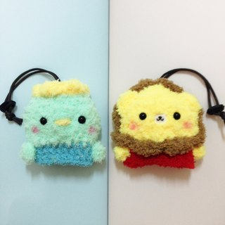 Wool knit animal big key bag _1 + 1 combination offer (can be combined with animal combination)