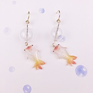 A pair of small goldfish Earrings