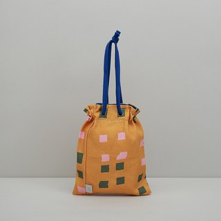 Eye beam, handbag, shoulder bag / orange kite