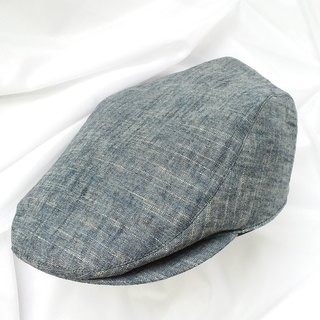 Washed Blue Cotton Hunting Cap (Flat Cap)