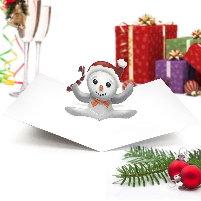 Snowman Card | Christmas Card | Christmas Pop Up Card | Pop Up Card ...