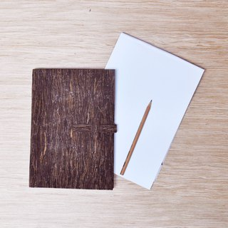 Paralife YOUR NAME's Wooden Grain Cork Notebook Cover