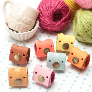 Ice cream Tinny pig leather manual hub (four into) *Please help me with the designer