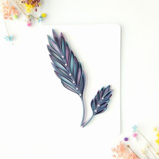 Hand made decorative cards-feather