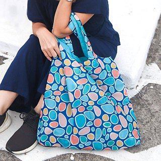 ENVIROSAX Australian Reusable Shopping Bag-Bondi Pavilion Colorful Stones